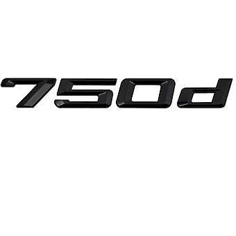 Gloss Black BMW 750d Car Model Rear Boot Number Letter Sticker Decal Badge Emblem For 7 Series E38 E65 E66E67 E68 F01 F02 F03 F04 G11 G12
