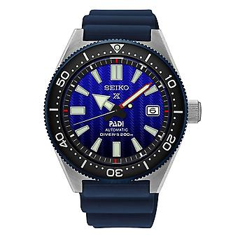 Seiko Uhren Spb071j1 Prospex Padi Silber & Blau Silikon automatische Taucher's Uhr