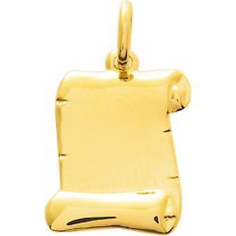 Pingente de pergaminho de ouro amarelo 18 quilates
