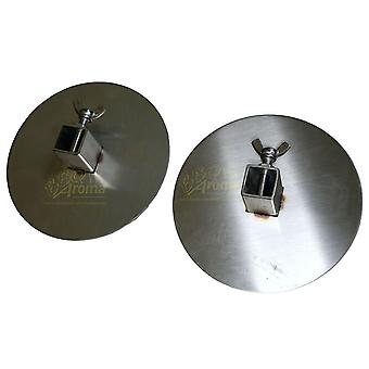 Outdoor Magic 20mm Stainless Steel Gyros Plates (Set of 2)