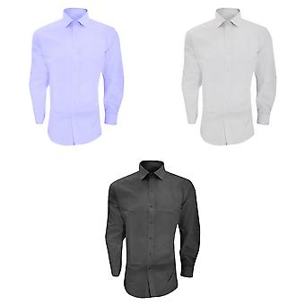 Brook Taverner Mens Alba Slim Fit Long Sleeve Easy Iron Work Shirt