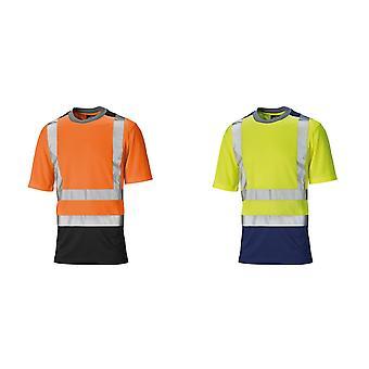 Dickies Mens korte mouwen tweetonige Hallo zichtbaarheid T-Shirt