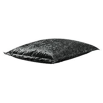 Hippo Crushed Velvet Look 'Ambre' Ebony Large Bean Bag Slab/Floor Cushion
