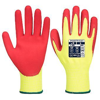 Portwest - 1 Pair Pack Vis-Tex HR Cut Glove - Nitrile Hand Protection Glove