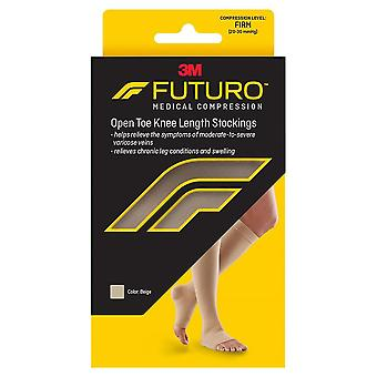Futuro open toe/open heel knee length stockings, beige, medium, 1 ea