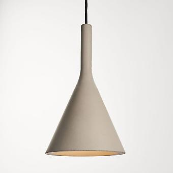 Endon Collection  Jakob Single Pendant In A Grey Concrete Finish