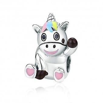Sterling Silver Charm Cute Unicorn - 6036