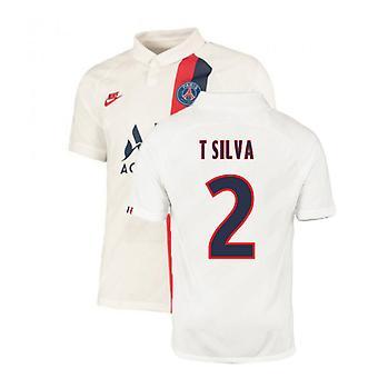 2019-2020 PSG Third Nike Shirt White (Kids) (T SILVA 2)
