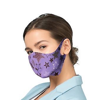 Beskyttende maske med sølv Ioner Antibakteriell filter - Lilla himmel