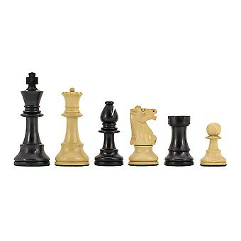 Conquest serie Ebonised Chess Pieces 4 Inches