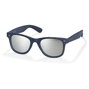Polaroid PLD1016/S MY7/JB Solid Blue/Polarised Grey-Silver Mirror Sunglasses