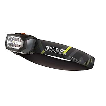 regatta montegra led headtorch 175 lumens grey for camping, hiking and at-home