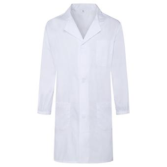 Allthemen Men's Medical Gowns Lapel Big Pocket Long Sleeves Medical Health Coat