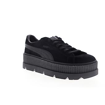 Puma Cleated Creeper Mocka Mens Svart Mocka Spets Upp Låg Top Sneakers Skor