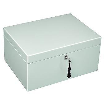 Giftcompany Tang biżuteria pudełko z zamkiem L szałwia / jasnoszary zielony 31 x 15 x 23 cm