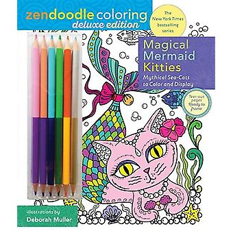Zendoodle Coloring - Magical Mermaid Kitties by Deborah Muller - 97812