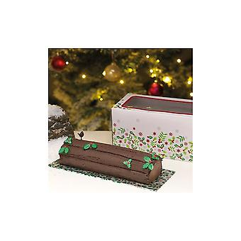 Culpitt Holly Log Box & Card Combo 12