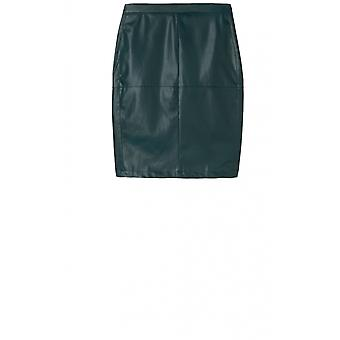 Sandwich Clothing Black Faux Leather Skirt