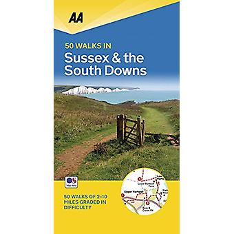 50 Walks in Sussex - 9780749581244 Book
