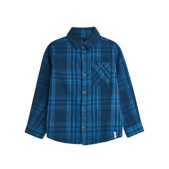 Esprit Boys' Cotton Checked Shirt With A Breast Pocket