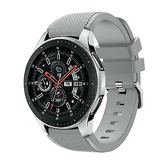 עבור Samsung Galaxy 42mm/46mm שעון צמיד צמידים להקה הרצועה סיליקון [42mm, אפור]
