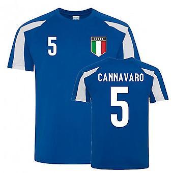 Fabio Cannavaro Italy Sports Training Jersey (Blue-White)