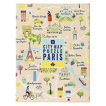Jigsaw Puzzle Paris Map 250 pieces Self Isolating