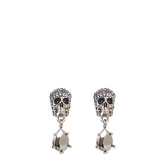 Alexander Mcqueen 582700j160k2078 Women's Silver Brass Earrings