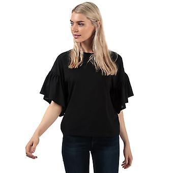 Frauen's Vero Moda Rebecca Jersey Top in schwarz