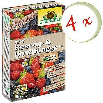 Sparset: 4 x NEWDORFF Azet® Marja- ja hedelmälannoitetta, 1 kg