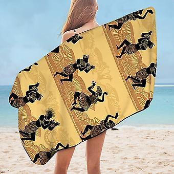 African Dance Microfiber Beach Towel