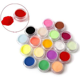 12 Colors Acrylic Powder Manicure Tips - Nail Art 3d Decoration Builder Polymer