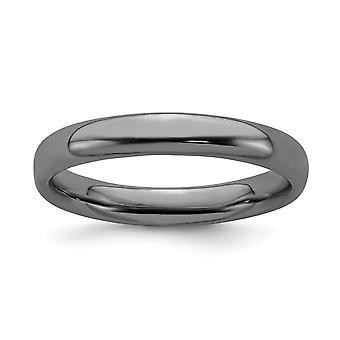 925 plata esterlina rutenio chapado expresiones negras chapadas anillo pulido joyería regalos para las mujeres - anillo Si