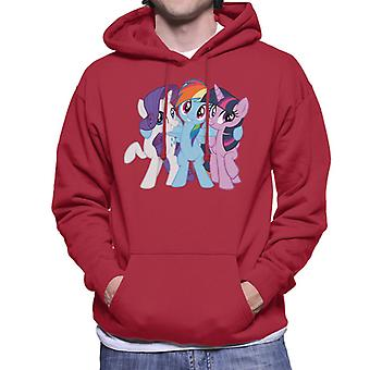 My Little Pony Team Hug Men's Hooded Hooded Sweatt