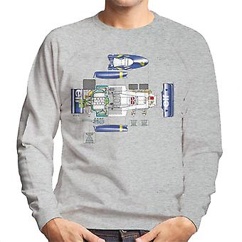 Motorsport Images Tyrrell P34 Exploded Diagram Men's Sweatshirt