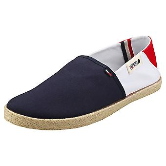 Tommy Jeans Summer Shoes Mens Slip On Shoes in Navy White Red