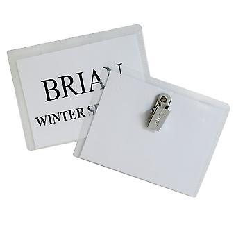 95596, Porte-badges De style clip, scellés avec inserts, 4 x 3, 96/BX, 95596