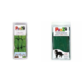 Pawz Green Dog Boots (Pack Of 12)