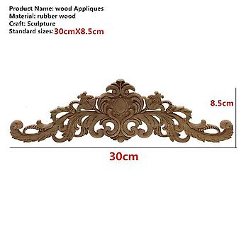 Rectangle Carving Natural Wood Appliques For Furniture Cabinet