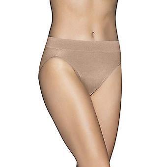 Vanity Fair Women's Beyond Comfort Hi Cut Panty 13212, Honey Beige, X-Large/8