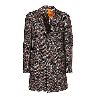Etro 1c90401190001 Men's Multicolor Wool Coat