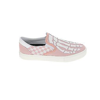 Amiri F0f23143clpnk Men's Pink Leather Slip On Sneakers