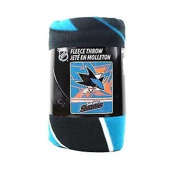 San Jose Sharks NHL Northwest Fleece Throw