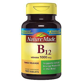 Nature made vitamin b-12, 1000 mcg, tablets, 160 ea *