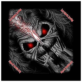 Iron Maiden Bandana Eddie Candle Finger Logo Official New Black (21in x 21in)