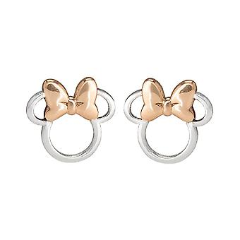 Minnie Mouse Head Sterling Silver Stud Earrings
