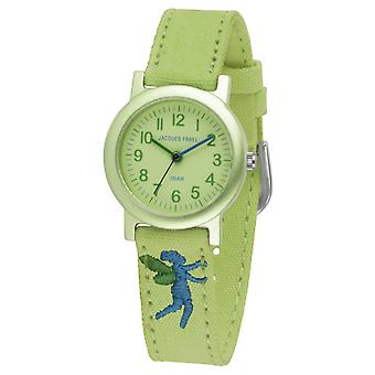 JACQUES FAREL Eco Kids Polshorloge Analog Quartz Girl ORG 0613 Lichtgroen Elf