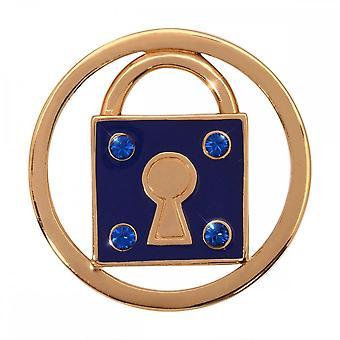 Nikki Lissoni Unlock My Dreams Medium Gold Plated Coin C1156GM