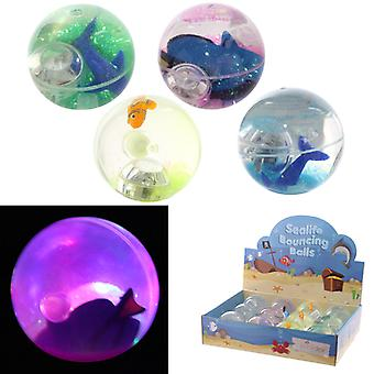 Fun Kids Flashing Bouncy Sealife Ball X 1 Pack