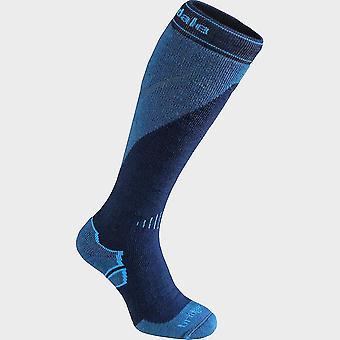 New Bridgedale Men's Ski Midweight+ Merino Endurance Over Calf Sock Navy/Grey